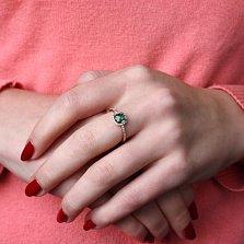 Золотое кольцо Антик с нанотурмалином и фианитами