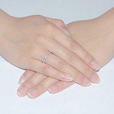 Кольцо в белом золоте Саманта с фианитами