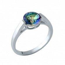Серебряное кольцо Николетта с мистик топазом