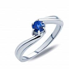 Серебряное кольцо Богдана с лондон топазом