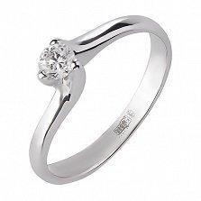 Кольцо из белого золота с бриллиантом Элья