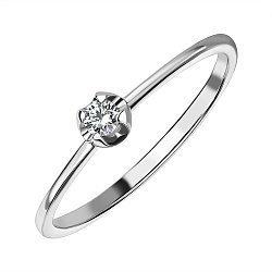 Кольцо из белого золота с бриллиантом 000141505