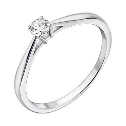 Золотое помолвочное кольцо Crazy Love в белом цвете с бриллиантом 0,25ct 000070528