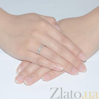 Кольцо в белом золоте Саманта с фианитами SVA--1190331102/Фианит/Цирконий