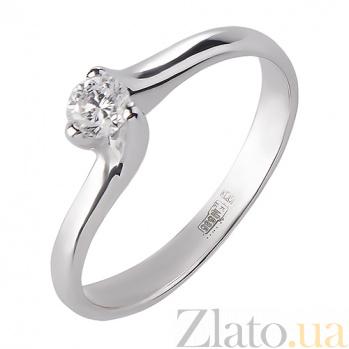 Кольцо из белого золота с бриллиантом Элья  R 0594/бел/бр