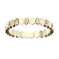 Кольцо в желтом золоте с бриллиантами Bee R-Ch/Bee-E-diam