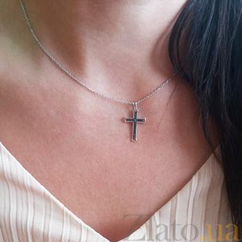 Крестик в белом золоте Исповедь с бриллиантами SVA--3102735202/Бриллиант