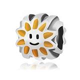 Серебряный подвес-шарм Солнышко с эмалью