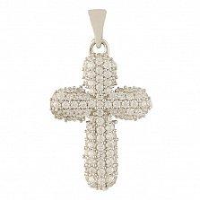 Серебряный крестик Сильвия с фианитами
