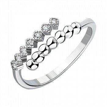 Серебряное кольцо с фианитами 000147243