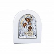 Серебряная икона Святое семейство