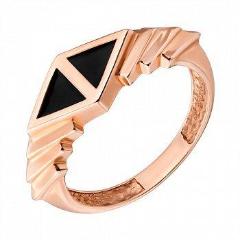 Кольцо в красном золоте с агатом 000079854