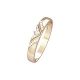 Кольцо из красного золота Мирабелла с бриллиантом