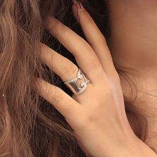 Серебряное кольцо Банафрит с фианитами
