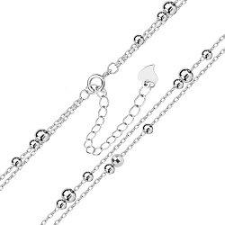 Серебряный браслет со вставками-шариками 000140021