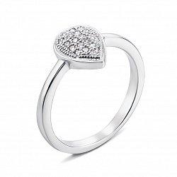 Серебряное кольцо с фианитами 000135488