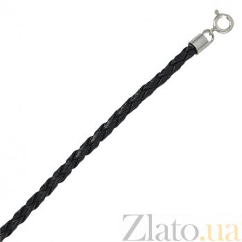Кожаный шнурок с серебром Веласкес 000027890
