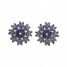 Золотые серьги с бриллиантами и сапфирами Camilla