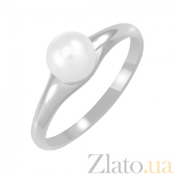 Золотое кольцо в белом цвете с жемчугом Джейна 000023174