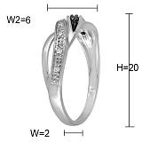 Кольцо Доминика из белого золота с бриллиантами