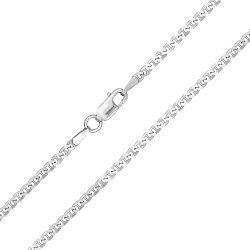 Серебряная цепочка Киан с родием, 3 мм