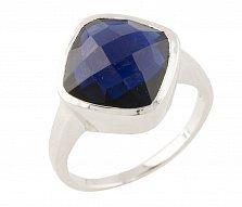 Серебряное кольцо Бернадет с синтезированным сапфиром