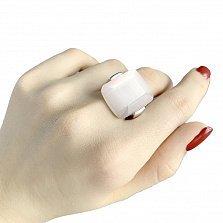 Серебряное кольцо Малика с розовым кошачьим глазом