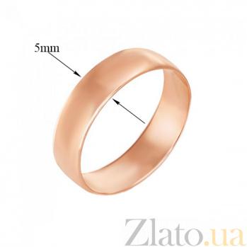 Обручальное кольцо из красного золота Любовь и верность 1001/6