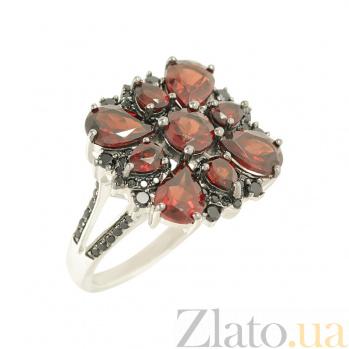 Серебряное кольцо с гранатами Фатима 3К846-0413