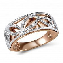 Кольцо из красного и белого золота Ангелина с бриллиантами