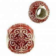 Серебряный шарм Фэридэ с красной эмалью