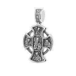 Серебряный крестик с чернением 000062986