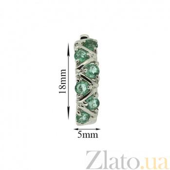 Серебряные серьги Иоланта с изумрудами ZMX--EE-16531-Ag_K