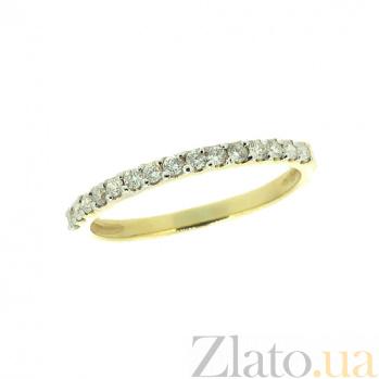 Золотое кольцо в жёлтом цвете с бриллиантами Кальяни 000021519