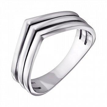 Серебряное кольцо Лайнира с родиевым покрытием 000057128