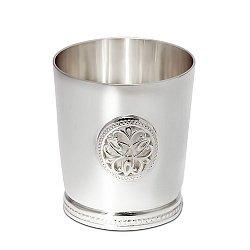 Серебряная рюмка Будем здоровы с фактурным узором, 45мл 000043455