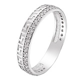 Серебряное кольцо Египет с фианитами
