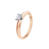 Кольцо из золота Миледи с бриллиантом