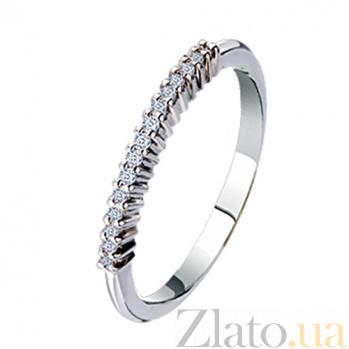Обручальное кольцо из белого золота с бриллиантами Сияние души  KBL--К1609/бел/брил