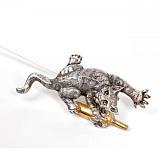 Серебряная закладка с позолотой Кот-проказник