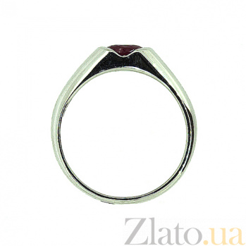 Золотое кольцо из белого золота с рубином Зафира ZMX--RR-15790w_K