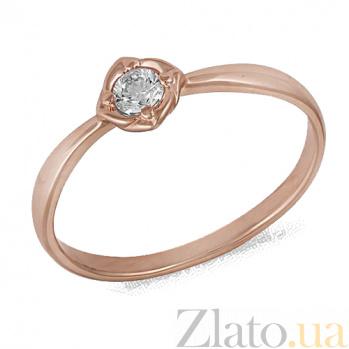 Золотое кольцо с фианитом Альфа 000022893