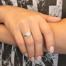 Серебряное кольцо Диана с фианитами