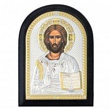 Икона на деревянной основе Иисус Христос Спаситель с эмалью и позолотой,14х19