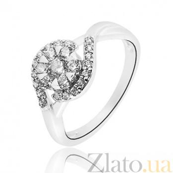 Серебряное кольцо Сирена с фианитами 10000066 в архив