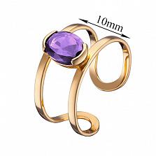 Кольцо из красного золота Альбина с аметистом