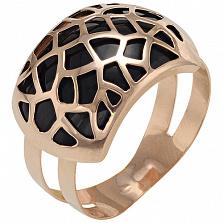 Золотое кольцо Хортенс с эмалью