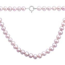 Ожерелье Эскетер из фиолетового жемчуга с серебряным замком