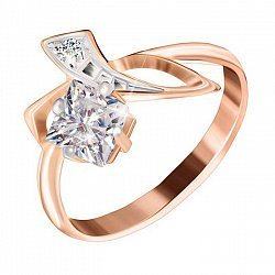 Серебряное кольцо с фианитами Жаклин
