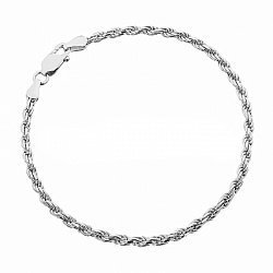 Серебряный браслет с родированием, 2,5 мм 000071830